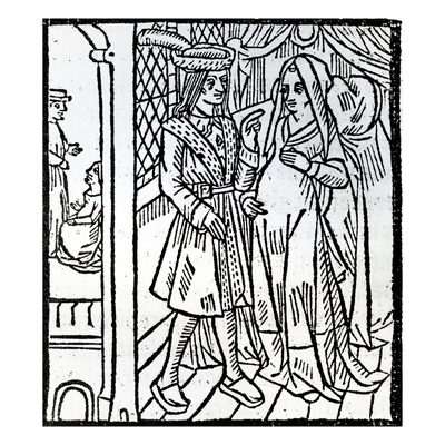 french-pathelin-and-guillemette-from-the-farce-of-master-pierre-pathelin-c-1465-woodcut